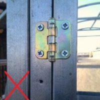 Двери теплицы